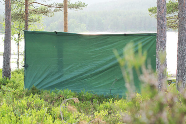Eagle Products Tarp als Windschutz